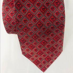 Men's Authentic Versace Silk Tie Red